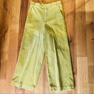 Chartreuse Wise Leg Crop Pant 🐸
